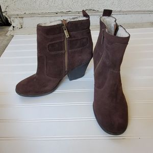 Lucky Chocolate Brown Ankle Boots